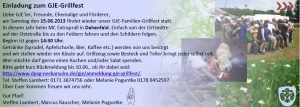 Einladung GJE Grillfest am 15.06.2013